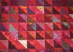 red bed quilt - 1